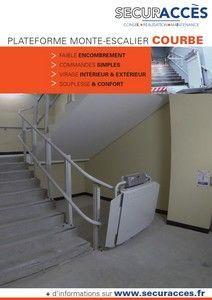Documentation commerciale de la plateforme monte-escalier courbe