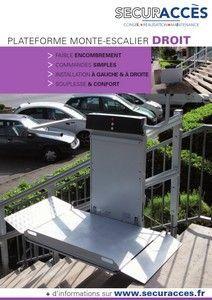 Documentation commerciale de la plateforme monte-escalier droit