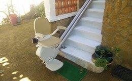 Pose d'un siège monte escalier chez un particulier