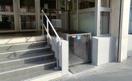 Installation plateforme élévatrice easylift au lycée chevreul à Lyon